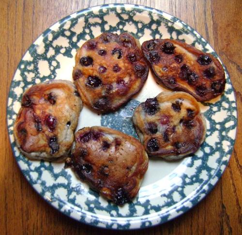 how to make blueberry pancakes recipe