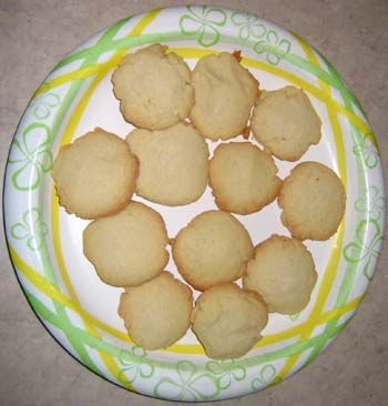 butter cookies on a plate