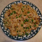 chicken fried rice with leftover chicken