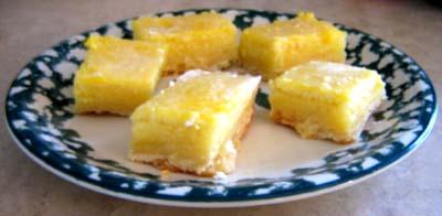 lemon bars 4th of july desserts recipe