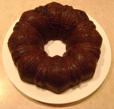 slice of this rich chocolate bundt cake goes so well with the ...