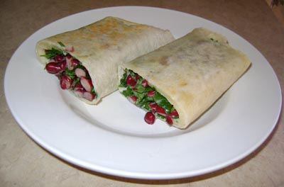 Bean And Cilantro Wrap Recipe