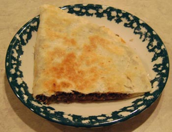 picture and recipe of yummy meat quesadillas