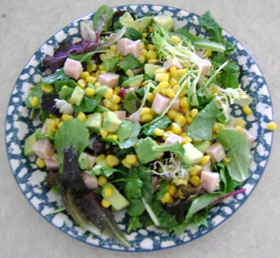 Turkey, Avocado And Corn Salad Recipe