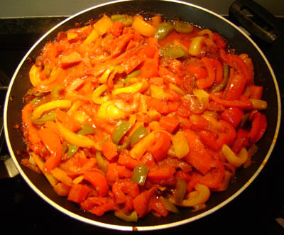 Russian Bell Peppers And Onions Appetizer - All Done!