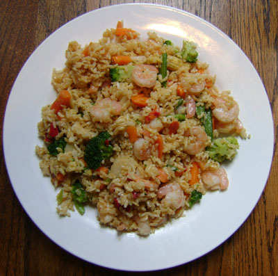 This shrimp fried rice recipe is so easy to make and tastes exactly like the one from the Chinese restaurant! So much cheaper and healthier than takeout!