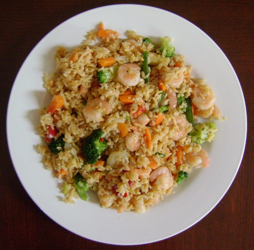... Fried Rice shrimp fried rice with nam prik pao and crispy lemongrass