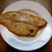 picture of fish in lemon butter sauce