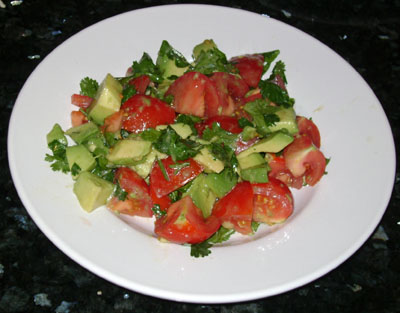 Tomatoes, Avocado and Cilantro Salad Recipe