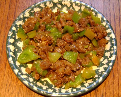 Chinese Garlic Beef With Green Peppers Recipe