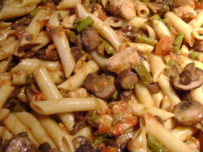 how to make pasta recipe with chicken mushrooms asparagus