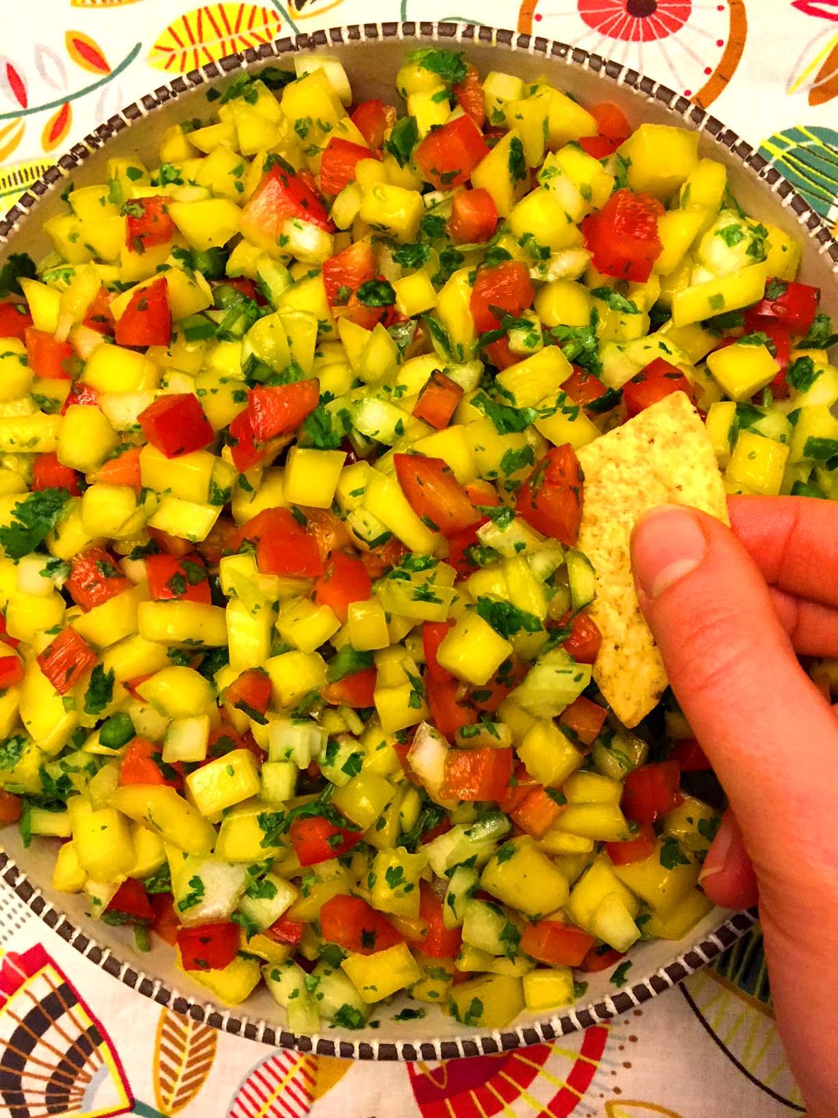 Easy Mango Salsa Recipe Melanie Cooks