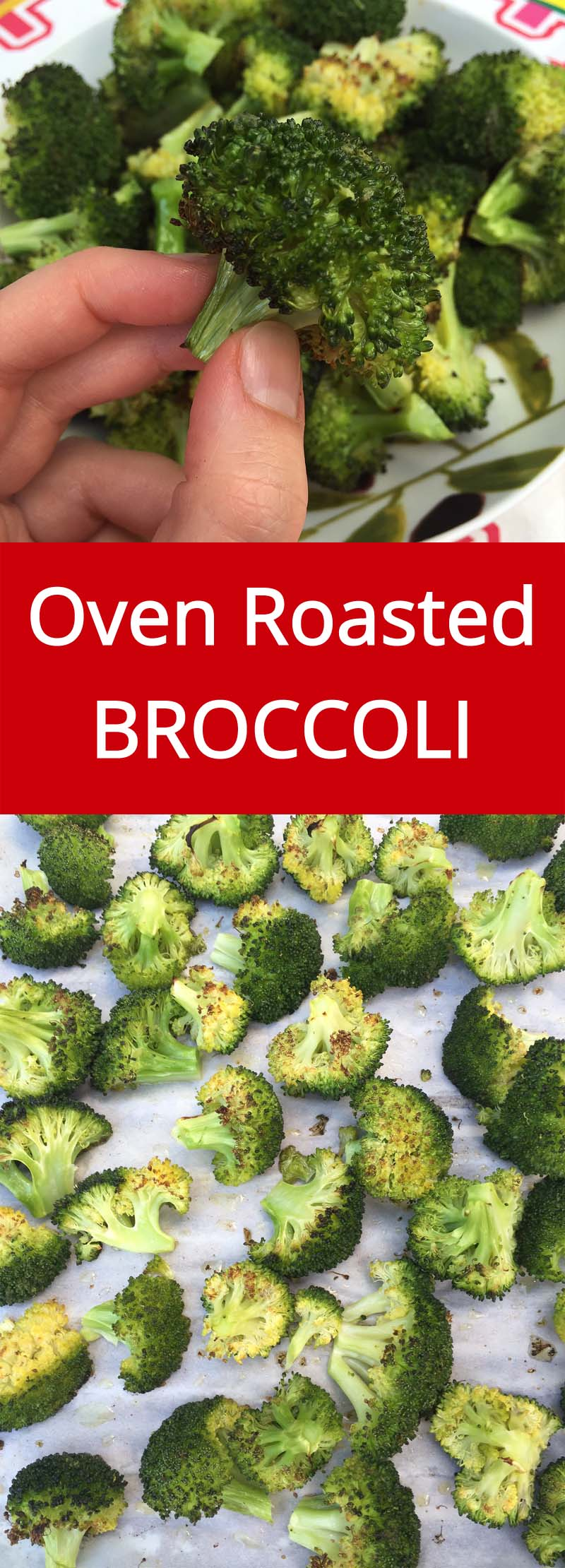 Roasted Broccoli is my favorite way of eating broccoli ever! So yummy and healthy! Even broccoli haters will gobble it up!