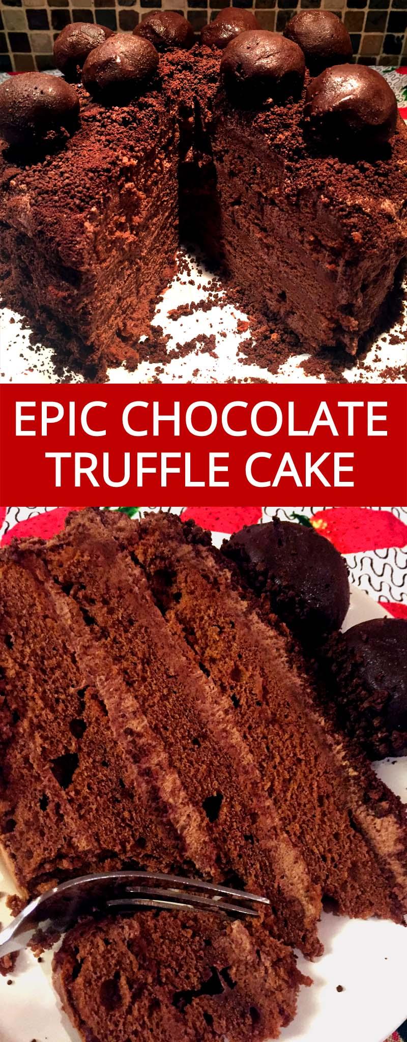 Homemade Chocolate Truffle Cake Recipe Melanie Cooks