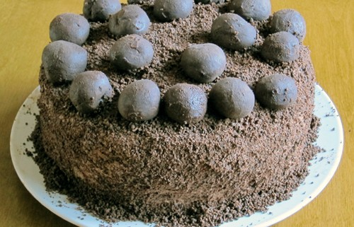 how to make chocolate truffle cake