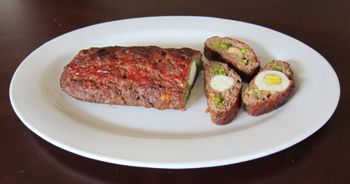 how to make a meatloaf stuffed with eggs