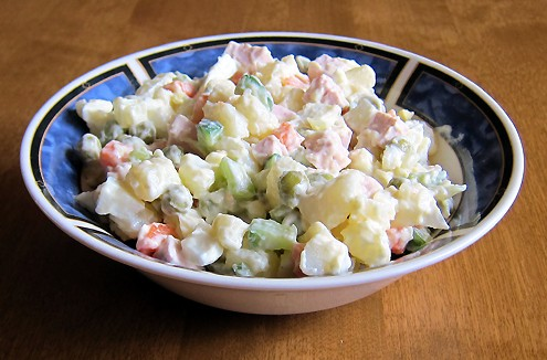 how to make russian potato salad