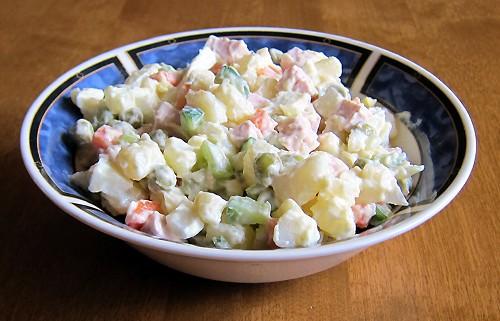 how to make russian potato salad