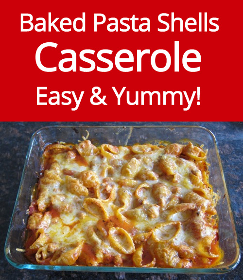 Baked Pasta Shells Casserole Recipe With Ground Meat And Ricotta - very easy and yummy!
