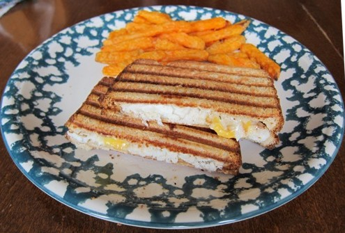 grilled fish panini sandwich