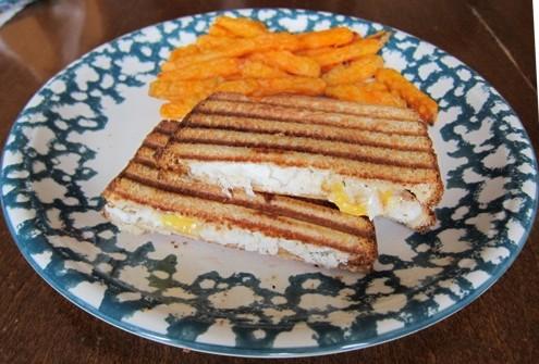 grilled fish panini sandwich