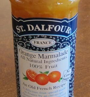 orange marmalade in a jar