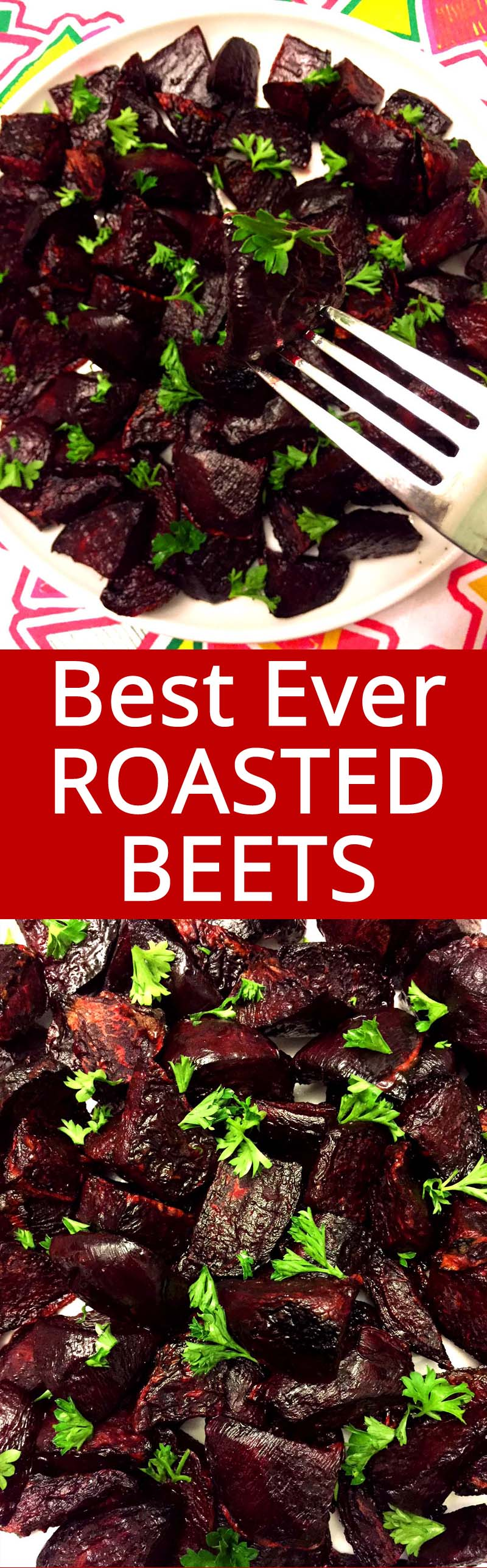 These oven roasted beets taste AMAZING! Even beet haters love those beets! They are so caramelized and delicious! YUM!