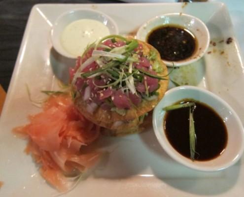 stir crazy ahi tuna and avocado poke picture