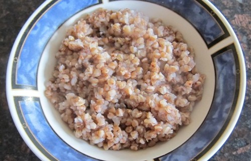buckwheat kasha in a bowl