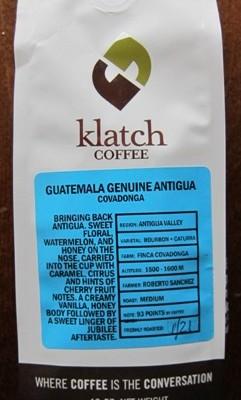 klatch coffee package