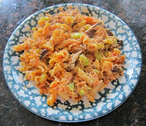 pasta recipe with zucchini mushrooms chicken