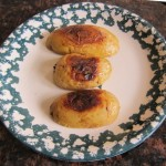 potato halves roasted