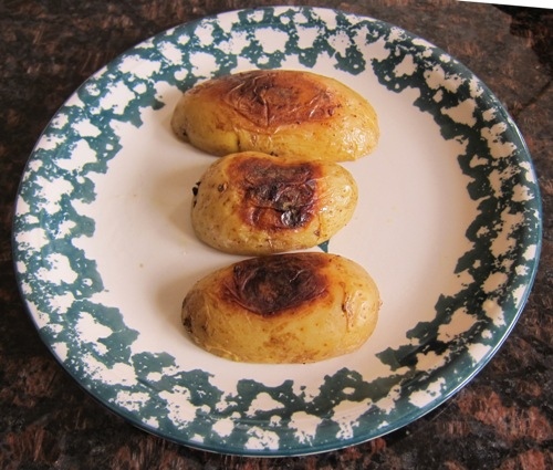 potato halves roasted