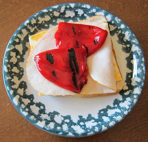 red peppers marinated roasted red pepper grilled cheese sandwich ...