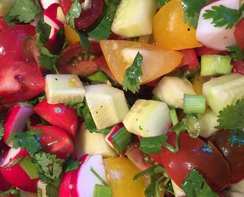 Tomato, Cucumber and Radish Salad - So Crunchy, Tasty and Healthy!