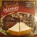 chocolate dilemma cheesecake from trader joe's store