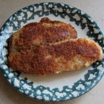 breaded tilapia from costco - cooked and served on a plate