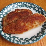 picture of crispy breaded fish fillet on a plate