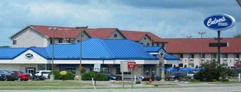 culver's fast food restaurant - wisconsin dells - street view