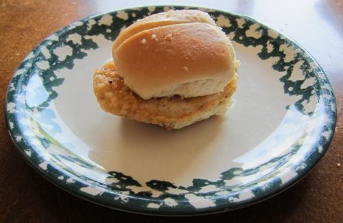 mini chicken breast sandwich