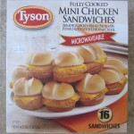 tyson mini chicken sandwiches package