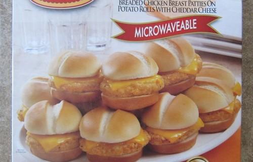 tyson mini chicken sandwiches package