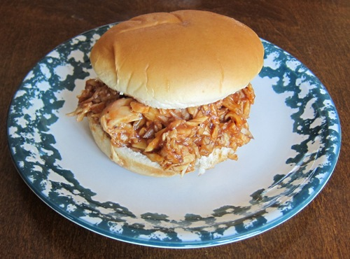 pulled bbq barbeque chicken sandwich
