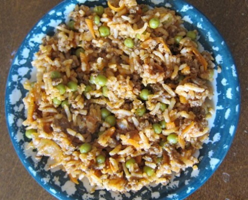 how to make dirty rice with ground beef