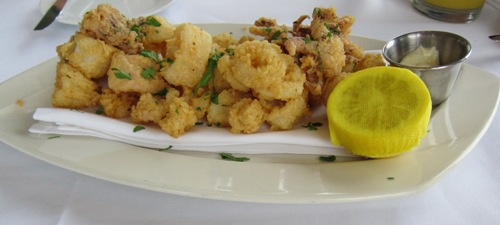 fried calamari appetizer at the signature room