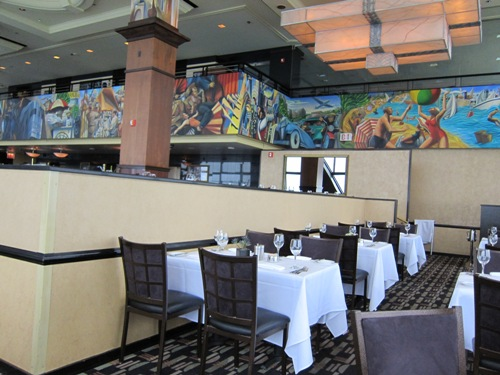interior of the Signature Room Chicago restaurant
