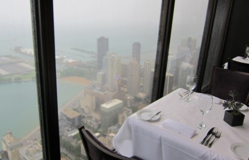 signature room restaurant chicago table by the window