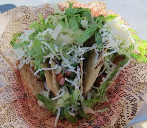 chipotle crispy vegetarian veggie tacos