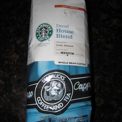starbucks decaf coffee house blend