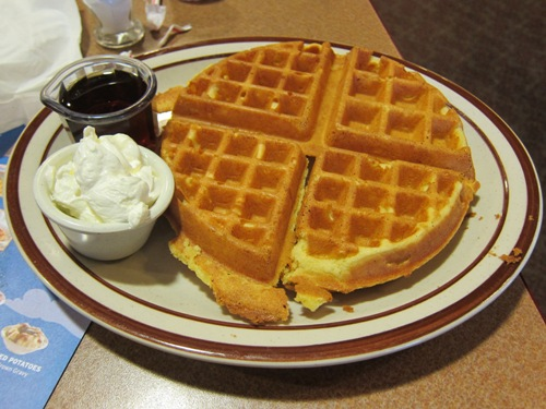 denny's belgian waffle